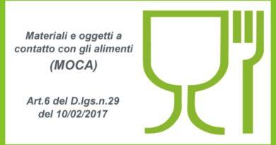 CNA Produzione : Per le imprese della produzione di (MOCA) Materiali Oggetti a Contatto con Alimenti