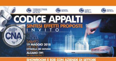 CODICE APPALTI – Sintesi Effetti Proposte – 19 Maggio 2018 – ALCAMO