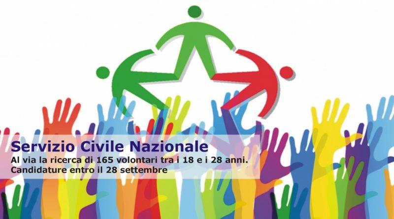 Servizio Civile Nazionale: Al via la ricerca di 165 volontari tra i 18 e i 28 anni. Candidature entro il 28 settembre