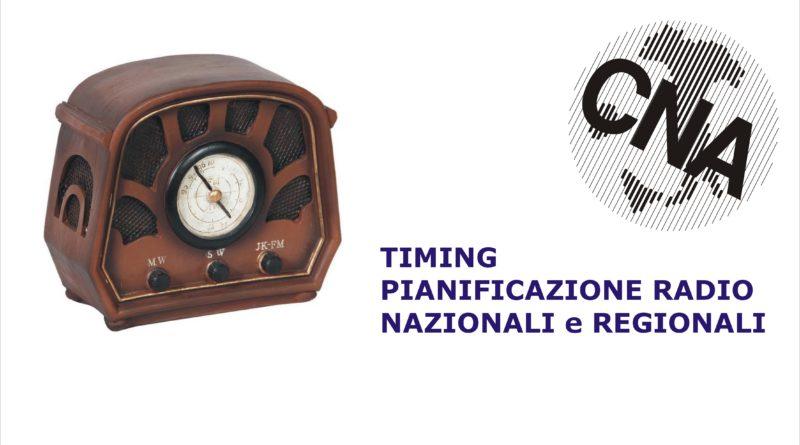 Pianificazione SPOT radiofonici – CNA Nazionale